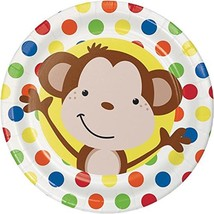 """Creative converting Party Monkey Fun Luncheon plates 8 count -9"""" diameter - $1.77"""