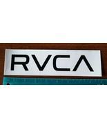 "Authentic RVCA Sticker WHITE w/black letters RVCA  9"" x 2 1/2"" Awesome!! - $6.92"