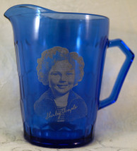 Vintage 1930's Hazel Atlas Shirley Temple Cobalt Blue Glass Pitcher #3 - $19.99