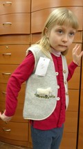 MERINO WOOL VEST FOR GIRL KNITTED UNIQUE HANDMADE IN EUROPE NEWBORN BABY... - $39.20
