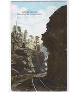 Railroad Track Mother Grundy Clear Creek CO postcard - $5.45