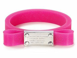Marc Jacobs Bracelet Jelly Bow Bangle Pop Pink NEW - $47.52