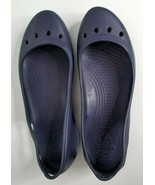 Crocs Womens Mary Jane Kadee Blue Flats Slip On Comfort Shoes Sandals Sz 11 - $16.99