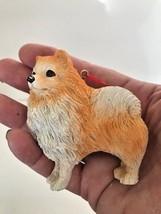 Pomeranian Ornament Christmas New Resin Animal Lover Pet Rescue Birthday... - $14.54