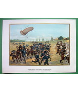 GERMAN ARMY Detachment of Balloon Troops Attack - SUPERB COLOR Antique P... - $23.59