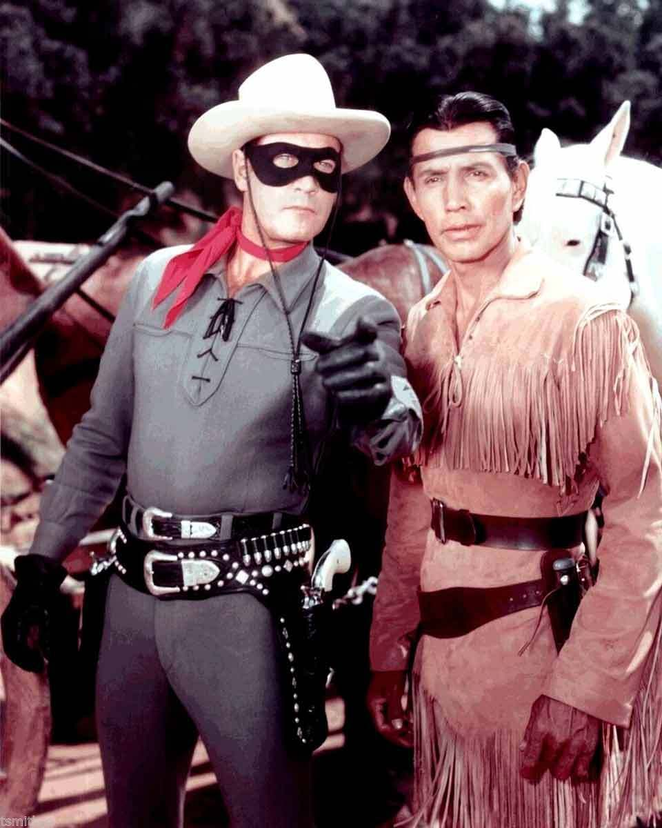 Clayton Moore The Lone Ranger And Tonto 8x10