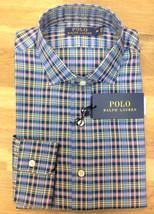 Polo Ralph Lauren Plaid Oxford Estate Shirt, Blue/White, Size M, MSRP $125 - $69.29