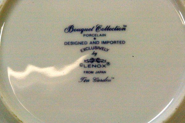 """Lenox 1985 Tea Garden Dinner Plate 10 1/2"""" image 4"""