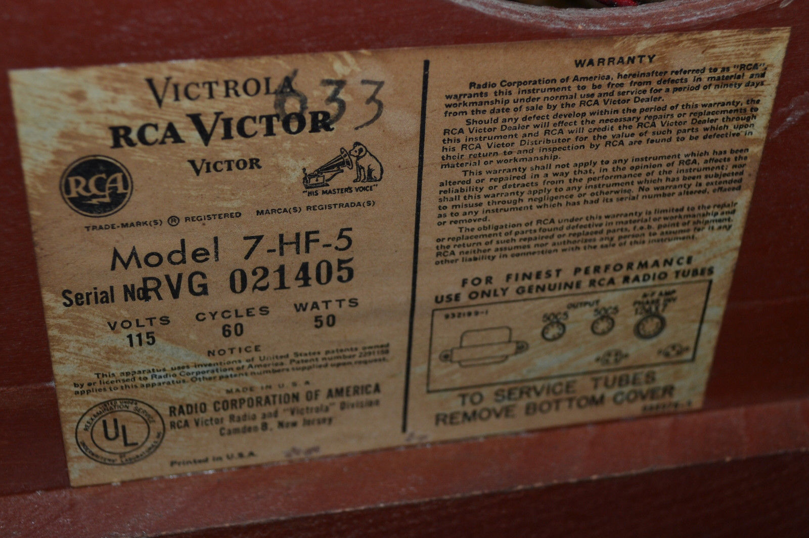 Vintage RCA Victor Victrola 7-HF-5 and 50 similar items