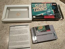 Super Tennis (Super Nintendo Entertainment System, 1991) - $17.77