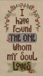 Song Of Solomon cross stitch chart Heart in Hand