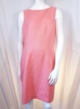 Talbots 100% Irish Linen B92 Pink Womens sheath lined Dress 10 M Medium - $30.86
