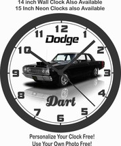 1968 DODGE DART BLACK WALL CLOCK-NEW!-Free USA Ship - $28.70+