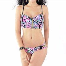 Tropical Floral Printed Push Up Women Swimwear - $31.98