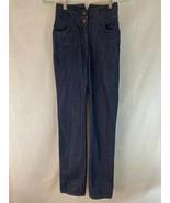 H&M Jeans 4 (EU 34) Blue Denim Hi Rise  Cotton Straight Leg Zip Button F... - $47.52
