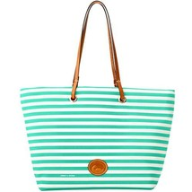 Dooney & Bourke Sullivan Addison Nylon Striped Tote SEA FOAM - $188.00