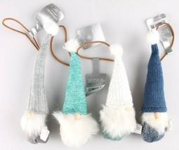 4ct Birchwood Bay Fabric Gnome Elf Christmas Ornaments Wondershop 2018 NEW w Tag