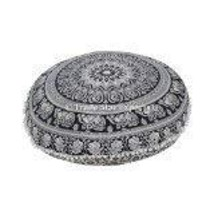 Traditional Jaipur Floral Mandala Floor Cushion, Large Decorative Throw ... - $22.76