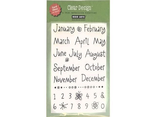 Primary image for Hero Arts Whimsical Months Clear Stamp Set #CL122