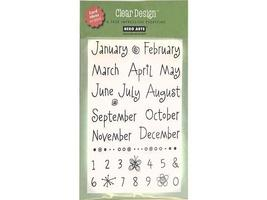 Hero Arts Whimsical Months Clear Stamp Set #CL122 - $8.99