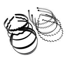 Black Spring Metal Hair Hoop for Girls Women Men Head Accessory (Pack of... - $16.83