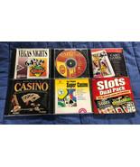 (6) Six Slot & Card - PC - CD ROM Casino Gambling Video Games - $8.90