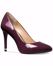 Michael Kors MK Logo ASHBY Plum Patent Leather Pumps Heels Shoes 9.5 11 NIB - $69.99