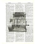 Antique Cash Register Dictionary Print Mechanical Mixed Media Wall Art f... - $10.99