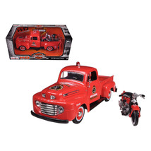 1948 Ford F-1 Pickup Truck Harley Davidson Fire With 1936 El Knucklehead... - $33.29