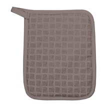 MUkitchen Silicone Grip and Cotton Pot Holder, 9 inch, Slate - $22.54