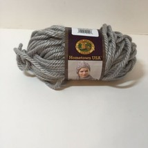 1 Skein Hometown USA Yarn Dallas Grey Super Bulky 5 oz Acrylic Lion Brand - $6.89