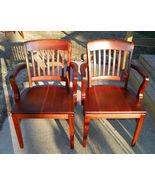Pair of Walnut Armchairs / Desk Chairs by Gunlocke  (BM-AC130) - $599.00