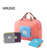 HMUNII® NEW Packable Carry On Bag Travel Tote Sports Gym Duffle Weekender - $12.36