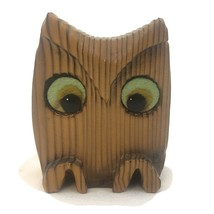 """Abstract hand-carved Wooden Owl  3.5"""" Tall with felt eyes - $19.99"""