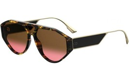 Christian Dior Clan1 086 Dark Havana Brown Pink Lenses Sunglasses AUTHENTIC  - $199.95