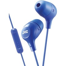 JVC HAFX38MA Marshmallow Inner-Ear Headphones with Microphone (Blue) - $30.11