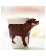 Dog Mug 3D Animal Shape Hand Painted Gift Ceramic Coffee Milk Tea Mug - $27.75