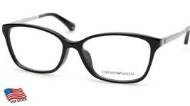 New Emporio Armani Ea 3026F 5017 Black Eyeglasses Frame 54-15-140 B38mm - $84.14