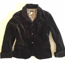 Brown velvet J. CREW long sleeve blazer jacket 6 - $28.01