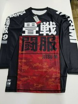 New Tatami Essentials Green Camo MMA BJJ Jiu Jitsu Long Sleeve LS Rashguard