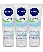3 ~ NIVEA Refreshingly SOFT Moisturizing Cream w JOJOBA Oil & Vitamin E ... - $12.87