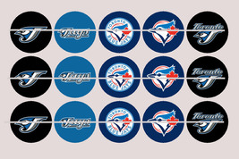 Printed Precut TORONTO BLUE JAYS inspired 1 inch images for bottlecaps, ... - $2.00