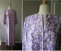 "Vintage ""At home wear sears"" Lavender cotton front zip robe house dress ... - $65.64"