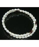 VTG FRESHWATER PEARLS & AMETHYST Gemstone Adjustable Expandable Bracelet - $19.80