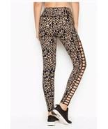 Victoria's Secret Sport Knockout Tight Leopard Ladder Cut Out Side Leggi... - $34.65