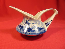 """2 1/2"""" Tall, Small Delft, Hand Painted, Pitcher/Creamer. Holland. - $12.99"""