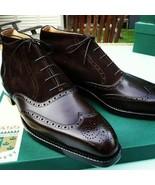 Men's Handmade Black leather Jodhpur Dress Boots, Bespoke Formal leather... - $164.89+