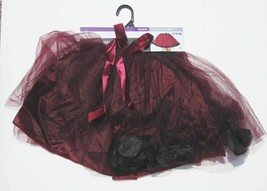 Maroon Purple TUTU Halloween Cosplay One Size Skirt Costume Accessory NEW - $8.81