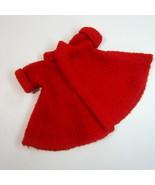 Vintage 1959 Ideal Red Flared Woolen Coat for Little Miss Revlon Doll wi... - $24.99