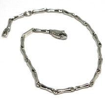 Bracelet White Gold 18K 750 Inserts Tubing, Bone, Tube, Length 17 CM - $249.24